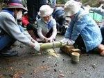 竹ポックリ作り