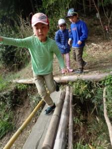 橋渡りに挑戦! (480x640)