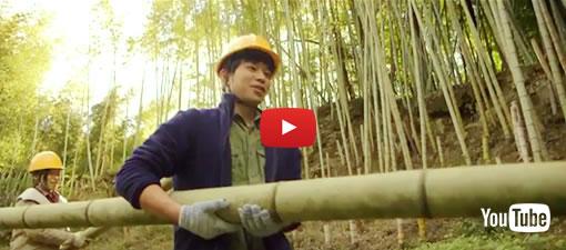 竹きりプロジェクト2018(竹破砕機作業)