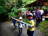 【報告】里山de遊び隊 8月・9月 竹を使って、いただきます♪