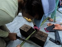 【報告】里山de遊び隊 10月・11月 竹笛と稲刈りで遊び隊